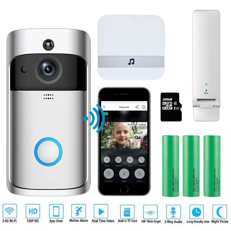 EKEN V5 Wireless Video Doorbell with Smart Security Visual Recording and Night Vision 1