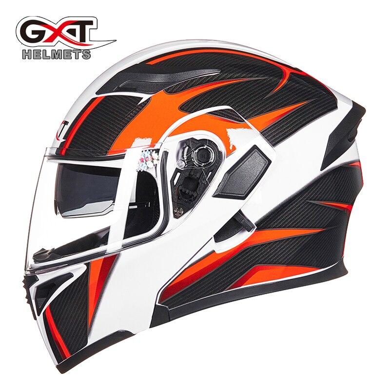 GXT Filp UP Helmet Motorcycle Dual Visor Smoke inner visor Hlemets Motorbike Riding Racing 4 seasons