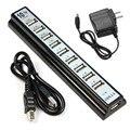 10 Portas Hi-Speed USB 2.0 Hub Power Adapter + para PC Computador Portátil ratos, teclado, unidades de uso externo USB HUB 2.0