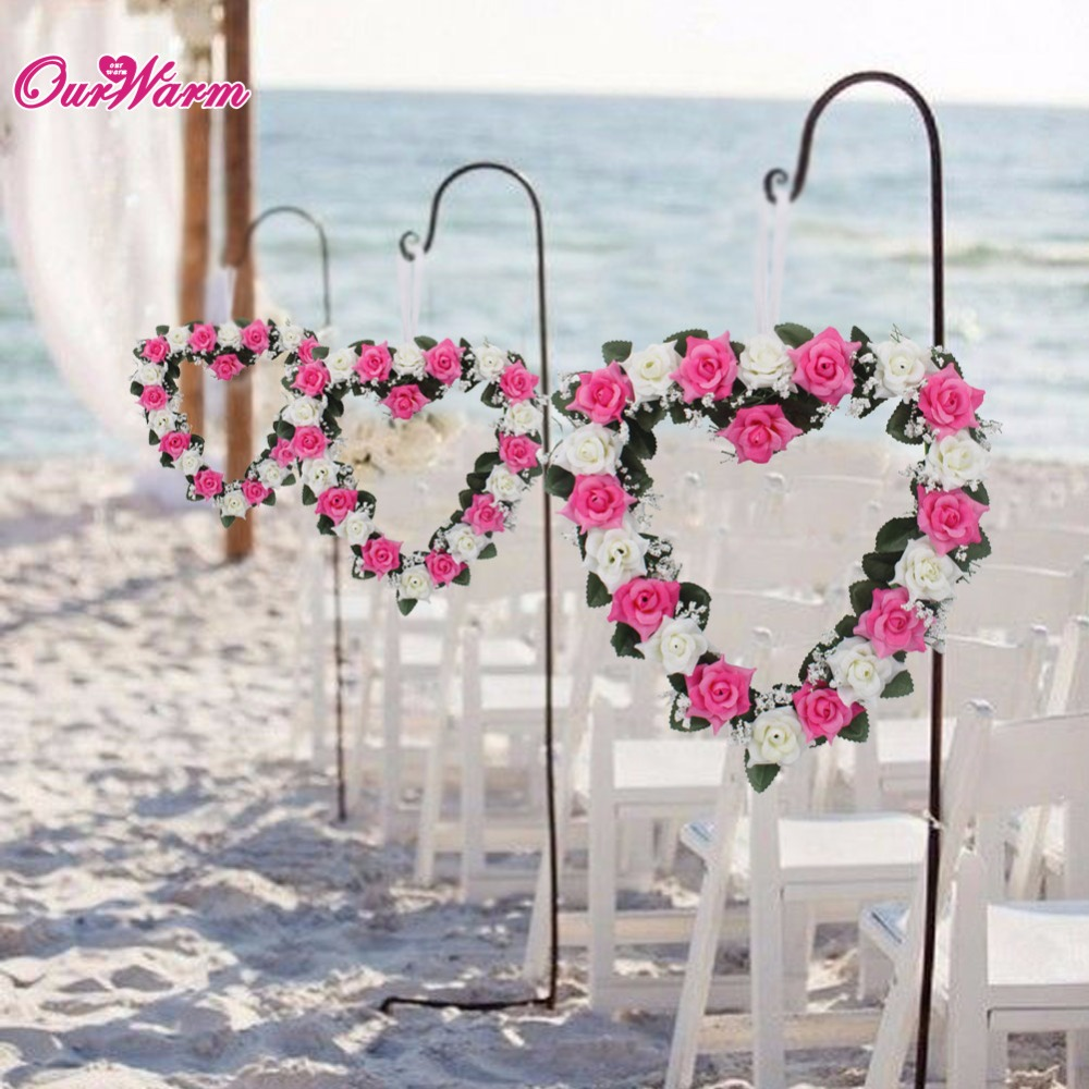 Heart Shaped Rose Wreath Hanging Wreaths Flowers Garland
