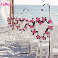 Heart Shaped Rose Wreath Hanging Wreaths Flowers Garland with Silk Ribbon for Home Door Wall Decor Wedding Car Decoration