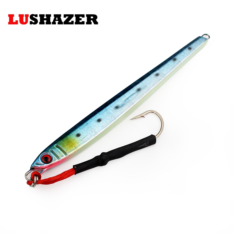 LUSHAZER Fishing lead head hook lure 300g 3d baits metal jigging lures spoon fishing accessories tackles lures china products nils master baby shad 5cm vertical jigging ice fishing lures
