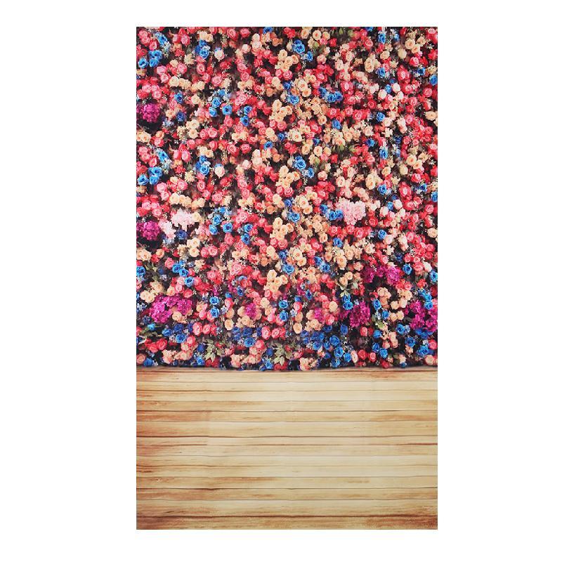 3x5ft Rose Flower Backdrop Studio Photo Photography Vinyl Wood Floor Background   #L060# new hot 10ft 20ft romantic wedding backdrop f 894 fabric background idea wood floor digital photography backdrop for picture taking