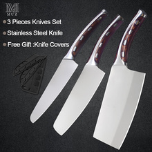 Hot Sale 4cr14mov Stainless Steel Kitchen Knife Set Chopping Chef Cleaver Super Sharp Blade Comfortable Handle Knives