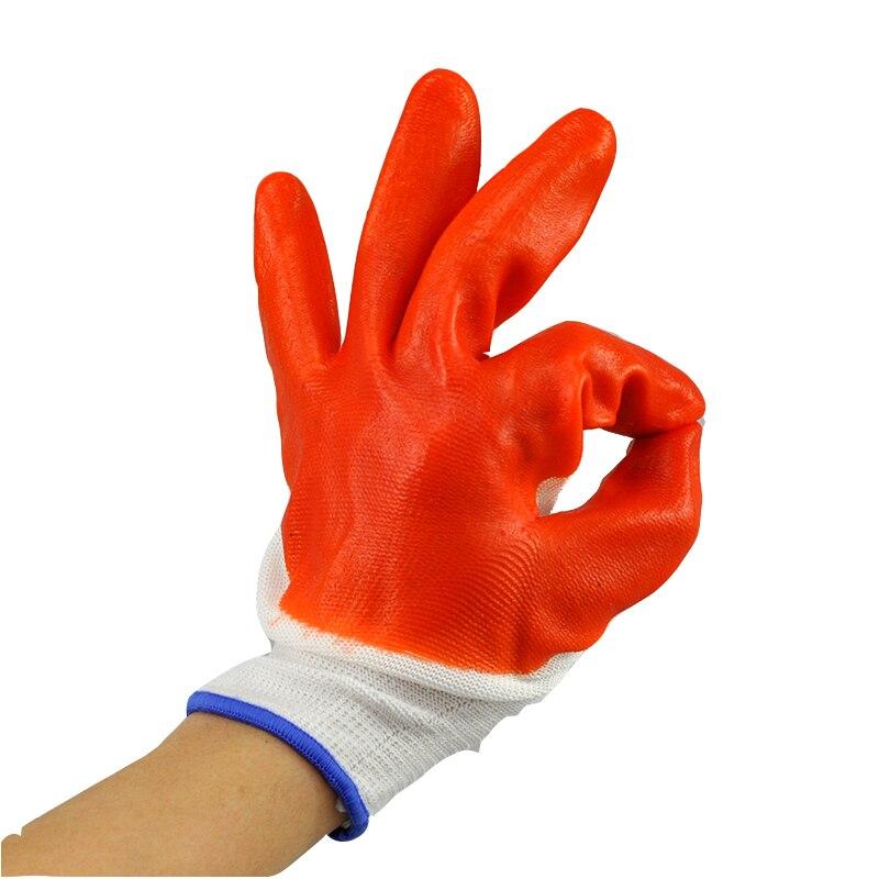 Бесплатная доставка масло-контроля износостойкие круто-устойчивых нейлон нитриловые пвх покрытием рабочие перчатки