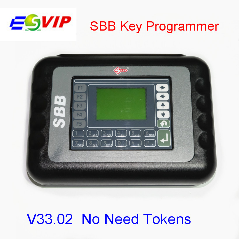 DHL Professional SBB Key Programmer V33.02 No Tokens Silca SBB Auto Key Pro Immobilizer Programming Tool For Multi Brand Cars 2017 newest ktag v2 13 firmware v6 070 ecu multi languages programming tool ktag master version no tokens limited free shipping