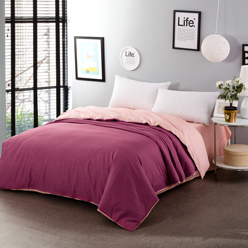 Home textile sauce red jade 100% cotton two-sided solid color bedding bed comforter cover duvet cover 200x230cm 220x240cm size