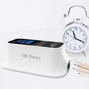 Image 5 - Portable Multi USB Charger Desktop Quick Charge 3.0 USB Charger Station Dock LED Display Smart USB Type C 8 Ports Charger Hub
