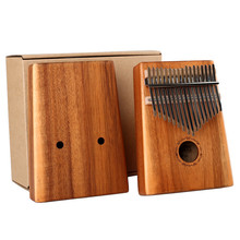 17 Keys thumb piano Kalimba Acacia Solid wood finger piano African Finger Percussion Keyboard
