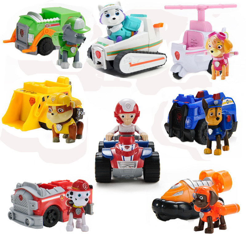1pcs Hot Sale Paw Patrol Dog Puppy Patrol Car Patrulla Canina Toys Action Figures Mode Anime Figurine Car Plastic Toy Kids Gift