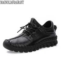 Fashion footwear Women Shoes Women Casual Handmade Genuine Leather Shoes Platform Shoes For All Season Flat shoes k19
