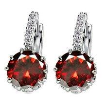 Crystal Earrings for Women Silver Wedding Jewelry