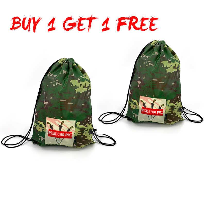 Sac de sport deux pièces paquet solide 17L Cubes d'emballage sac à cordon de grande capacité sac de sport sac de Camouflage sac à dos de Fitness