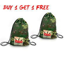 Two Pieces Gym Bag Strong Package 17L Packing Cubes Large Capacity Drawstring Bag Sports