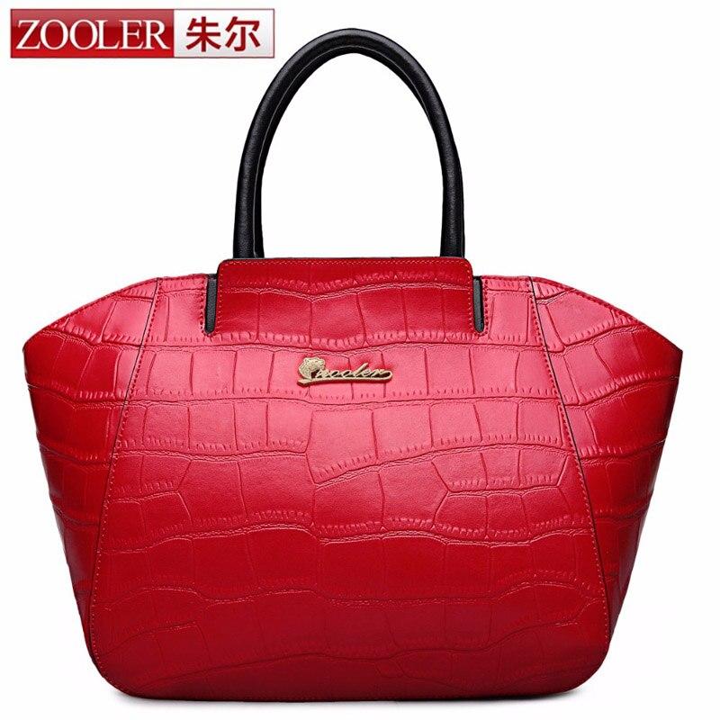 ZOOLER Authentic Women Crocodile Bag 100% Genuine Leather Women Handbag Hot Selling Tote Women Bag Large Brand Bags Luxury SAC