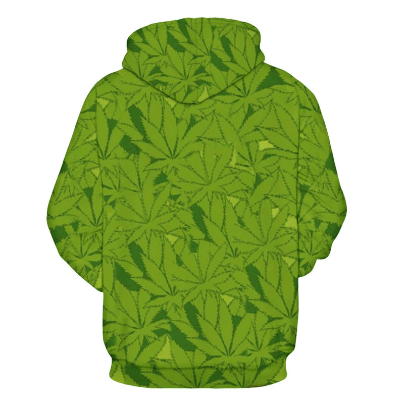 plus size 6xl 3d print cartoon sexy smoking girl hooded weed leaf