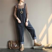 Women Corduroy Jumpsuits Vintage