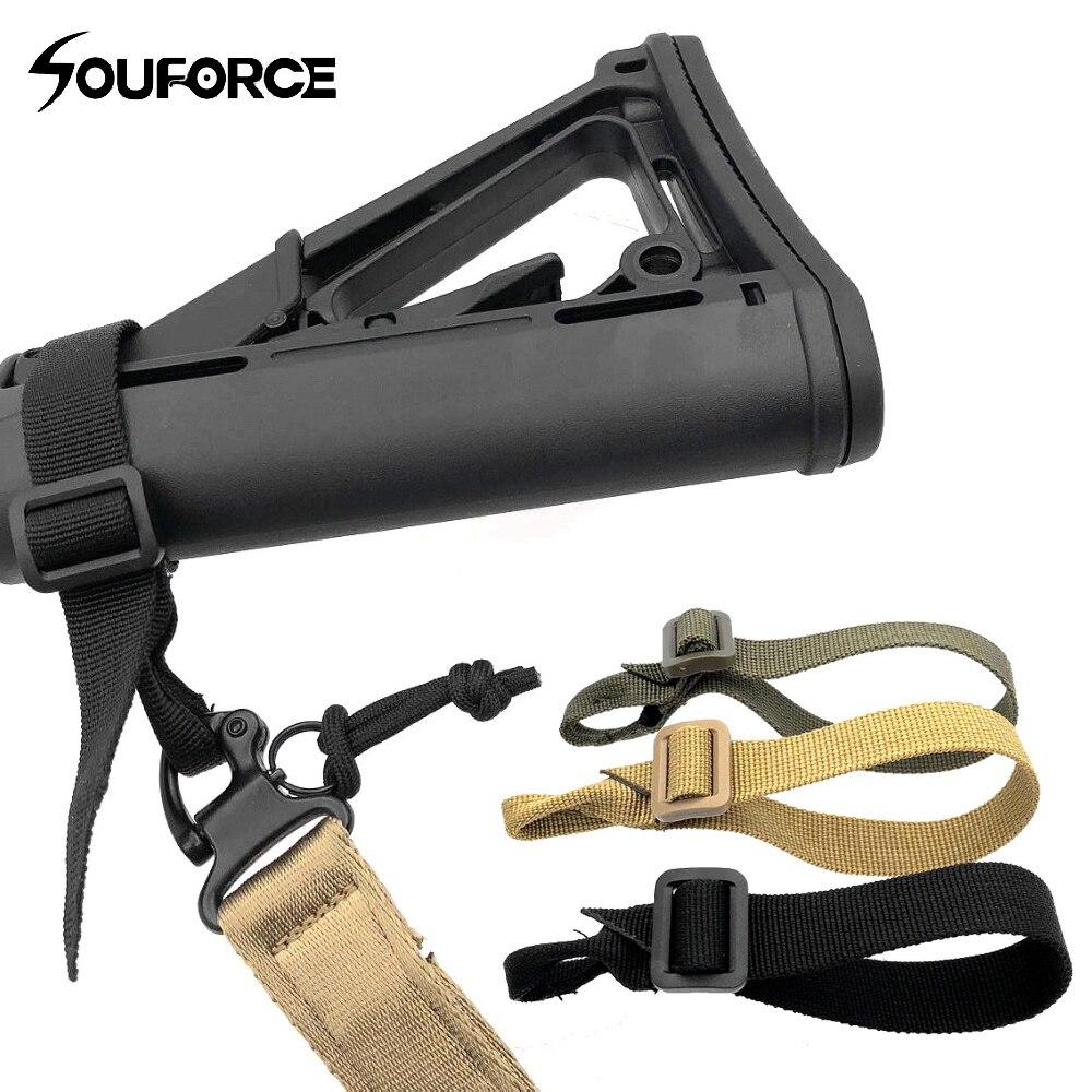 3 colores Multi-funcional táctico Nylon Cable Tie BB Hang Buckle Tie car Single Point mochila P90 M4 hebilla de conexión caza