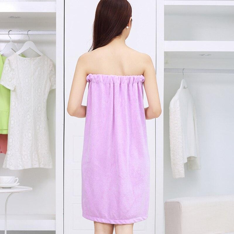 SENNLLJUNG Women Wearable Microfibre Towel Bath Towel Bowknot Wrap Skirt Bathrobe Super Soft Absorbent Bath Towels For Adults