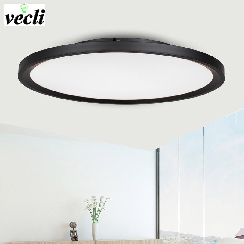 Modern minimalist circular master bedroom LED ceiling lamp light, guest dining room living room office ultra-thin panel lighting