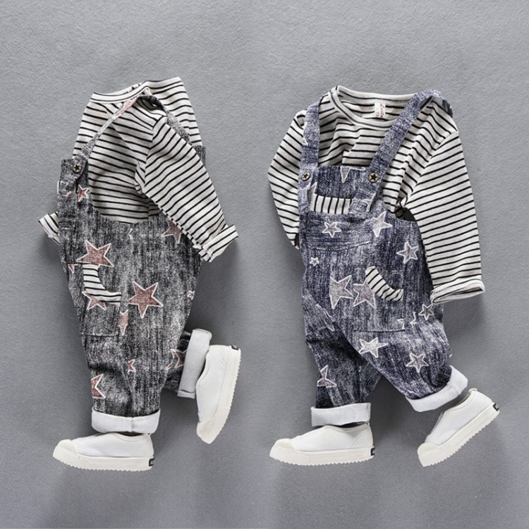 ViGarBear baby spring suit 0-4 years baby long-sleeved back trousers jacket spring boys five stars back pants childrens clothing 2017 new cartoon pants brand baby cotton embroider pants baby trousers kid wear baby fashion models spring and autumn 0 4 years