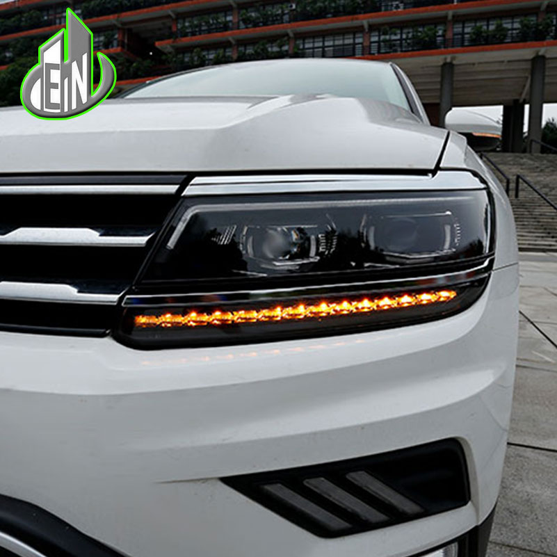 купить EN Car Styling For VW Tiguan Headlights 2017 New Tiguan LED Headlight LED DRL Bi Xenon Lens Headlight High Low Beam Parking недорого