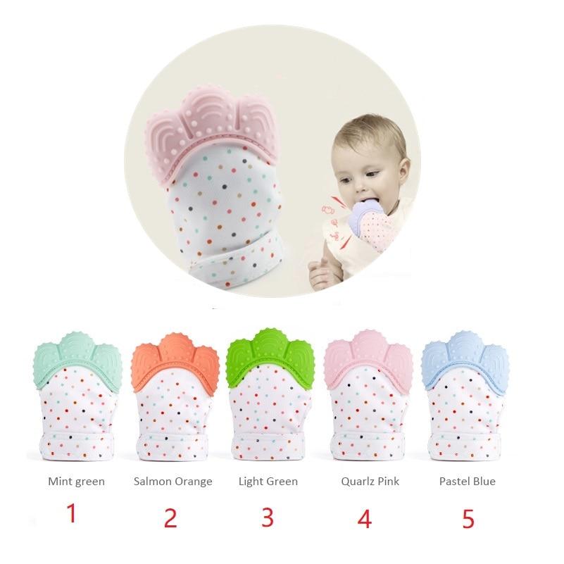 1 Piece Silicone Toddler Teether Mitten - Baby Fruit Feeder Pacifier - Self-Soothing Fun Baby Mitt Teething Glove