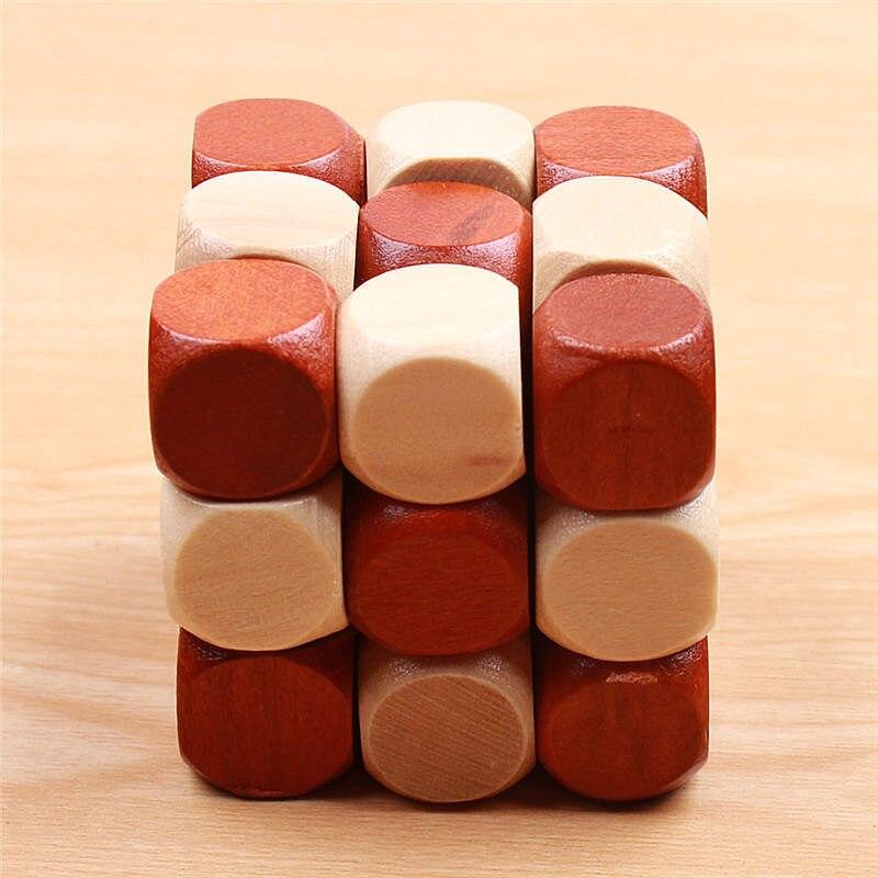 3D trä pussel Leksaker Magic Cube Educational Jigsaw Wood Fancy - Spel och pussel - Foto 3