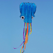4m Orange Red Head Colorful Tail Software Flying Kite Octopus Kite for Park Beach Sea Outdoor Fun Toys 5Kinds