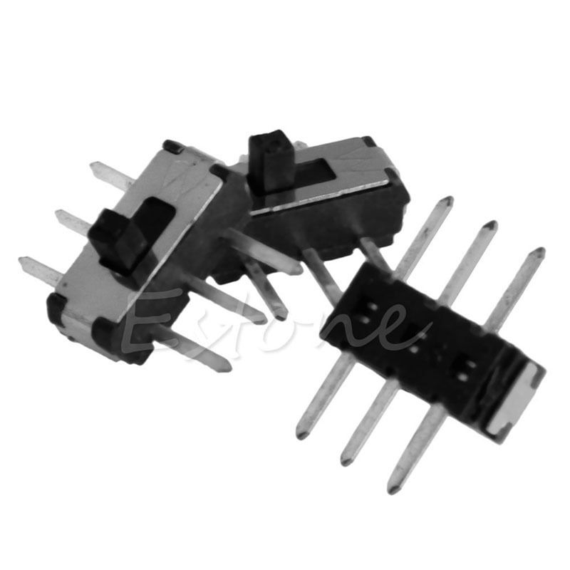 C18 New Hot 50pcs Slide Switch 6 Pin Mini Toggle Switch