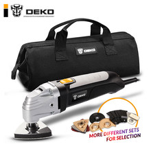 DEKO 110V/220V Variable Speed Electric Multifunction Oscillating Tool Kit Multi-Tool Power Tool Electric Trimmer Saw Accessories(China)