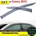 A & T Vent visor car styling Lluvia Escudo Sol Ventana Visor Para Toyota Camry 2012 2013 2014 Cubre Las Pegatinas de Coches de Estilo Acce