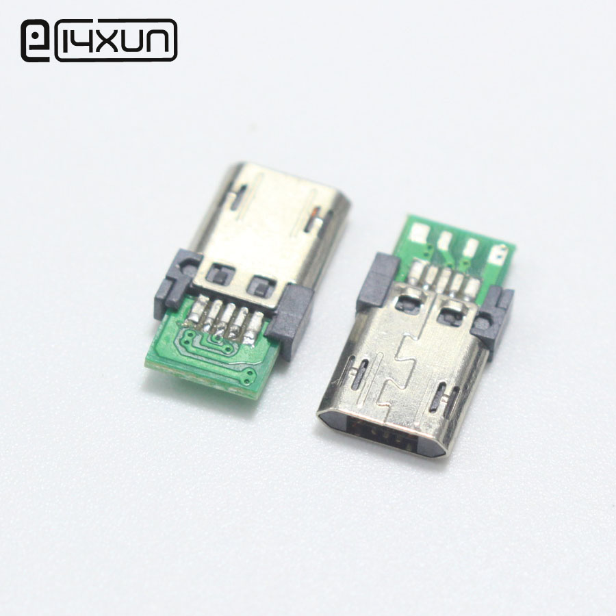 1pcs <font><b>Micro</b></font> <font><b>USB</b></font> with <font><b>PCB</b></font> Board Type A Male Plug <font><b>Connector</b></font> Port DIY Parts Plug image