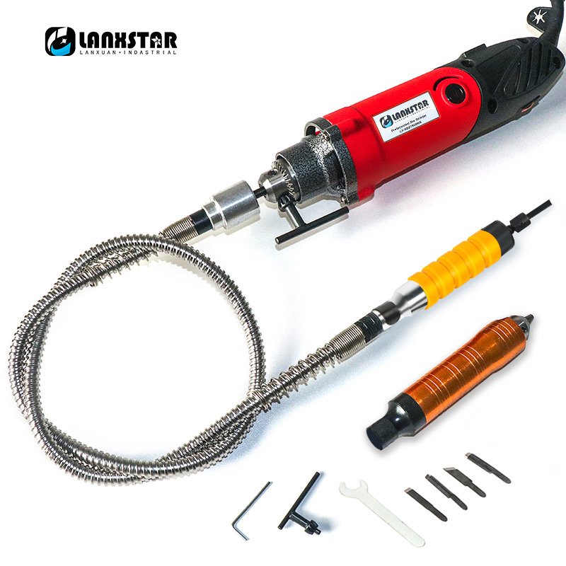 Lanxstar 7500WS High Power Suspended Mini Drill For Dremel Rotary Tools With Flexible Shaft  6mm 4mm Chuck Bracket
