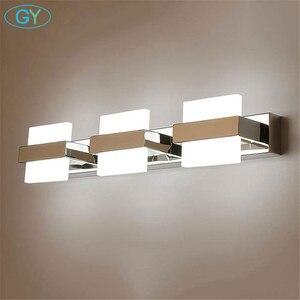 Image 5 - Nowoczesne oświetlenie LED lustro łazienka Home Decor kinkiet wodoodporna stal nierdzewna kinkiet 110V 220V makijaż Vanity oprawa światła