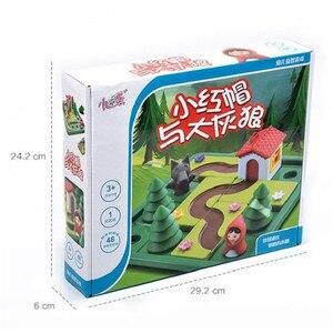 Image 5 - Pouco vermelho equitação capô inteligente iq desafio jogos de tabuleiro quebra cabeça brinquedos para crianças com solução inglês speelgoed brinquedo oyunc51
