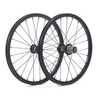 "SILVEROCK 349 16"" 1 3/8"" Wheels Aluminum Rim Brake for Fnhon Gust P8 74mm 130mm Folding Bike Wheelset"
