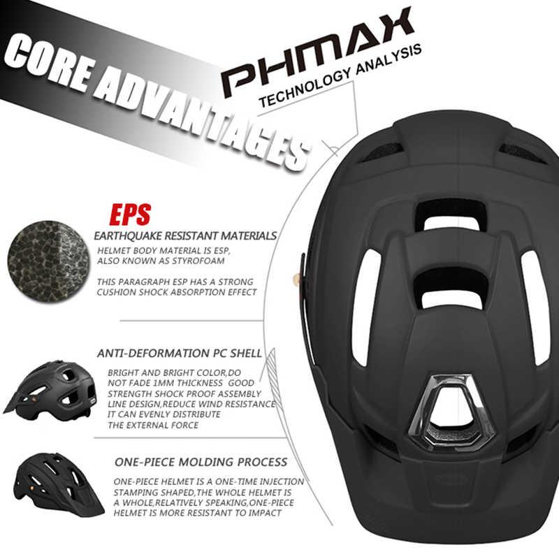 PHMAX שביל XC MTB קסדת אופניים בעובש כביש אופני קסדת גברים נשים הרי אופניים קסדות בטיחות כובע