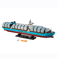 Genuine Technic Maersk Line Triple E Model Building Blocks Compatible Legoings 10241 22002 Bricks Toys for Children Gifts