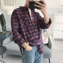 2019 Spring Clothes New Pattern Lattice Shirt Long Sleeve Shopkeeper