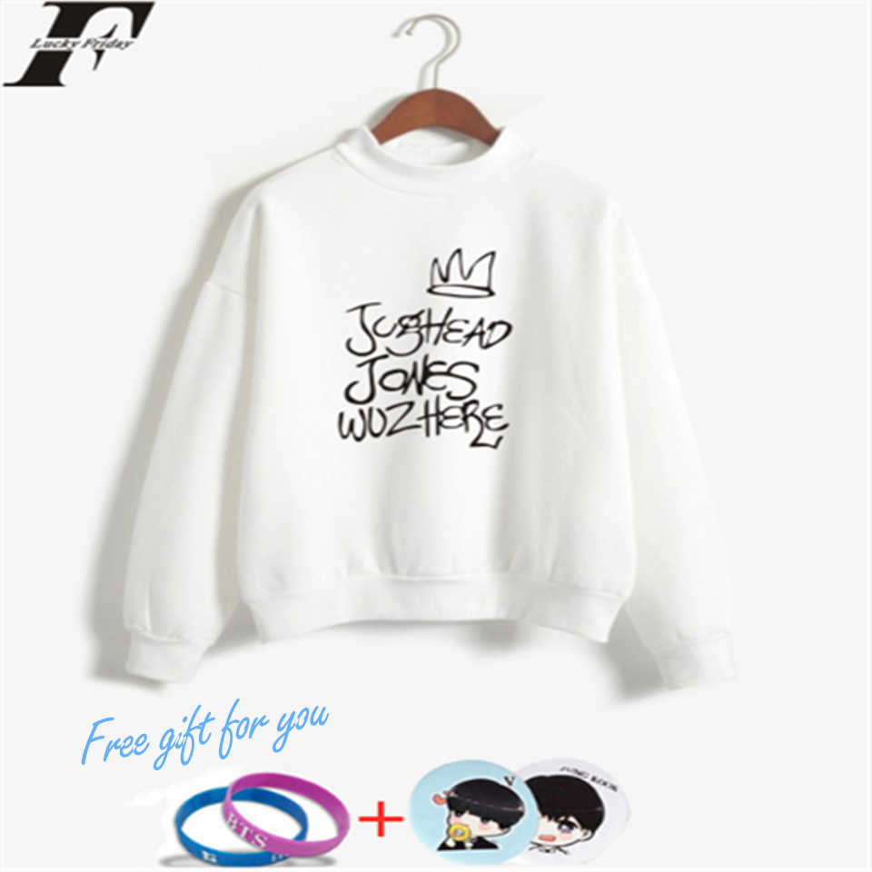LUCKYFRIDAYF K-pop Riverdale Turtlenecks Sweatshirts Hoodies Women/Man Casual Style Collage Print Hoodies Pullovers Clothes