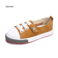 Gamlon 2017 Spring Autumn New Children's White Shoes Real Leather Boys Girls Breathable Casual Shoes Shallow Mouth Sneakers