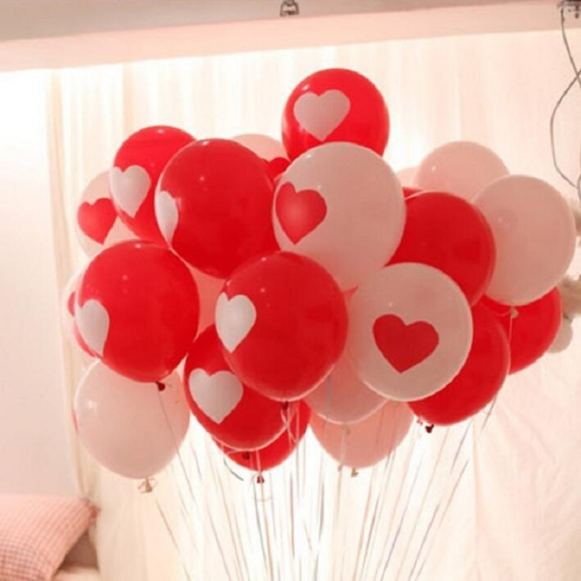 12inch 32g 50pcslot wedding balloons red heart balloon birthday 12inch 32g 50pcslot wedding balloons red heart balloon birthday party balloons latex balloons junglespirit Images