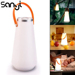 SANYI Touch Switch Portable Lantern Hanging Tent Lamp USB Rechargeable Night Light for Bedroom Living Room Camping by USB Cable