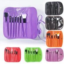 Fulljion Professional Makeup Brushes 7pcs Brushes For Makeup Cosmetic Kit Set Foundation Makeup Brush Holder+ Makeup Case