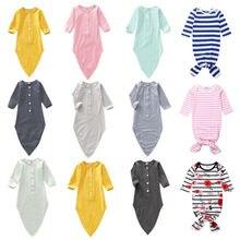 Милое Хлопковое одеяло для новорожденных девочек и мальчиков, хлопковый спальный мешок с цветочным рисунком