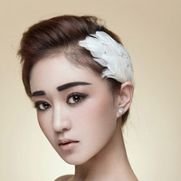 2014 New European And American Fashion Bridal Hair Accessories Feather Headband Feather Hair Clips Bridal Jewelry