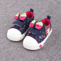 Child Casual Shoes For Girls Spring Autumn Canvas Sneaker Shoes With Bow Kids Baby Girls Fashion