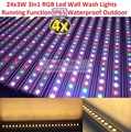 4xLot 2017 Waterproof Led Wall Washer Lights IP65 Dmx Line Bar Led Wall Wash Stage Light for Dj Disco Party Effect Outdoor Using