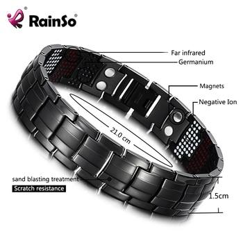HTB1qvMzmNSYBuNjSsphq6zGvVXas.jpg 350x350 - RainSo 2019 Fashion Titanium Bracelets & Bangles For Women Men Trendy Simple Generous Jewelry OTB-216  charm bracelets